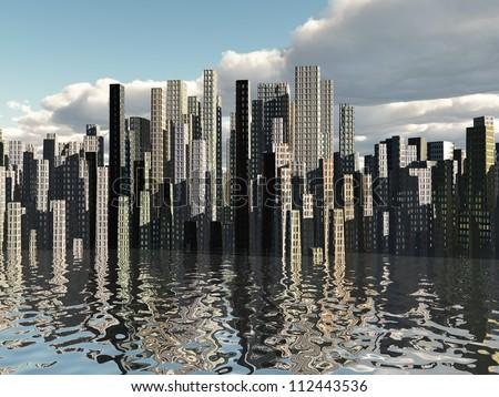 City Waterfront - stock photo