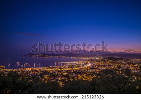 citylight in Cannes - stock photo