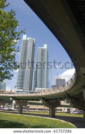 cityline toronto - stock photo