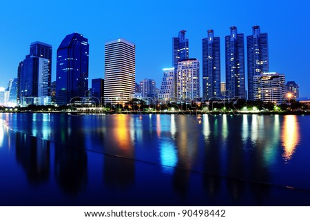 Cityscape at Night, Bangkok, Thailand