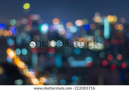 Cityscape background, Blurred Photo bokeh - stock photo