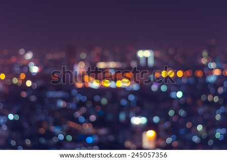 Cityscape background, Blurred Photo bokeh - stock photo