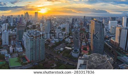 Cityscape, center of Bangkok, Thailand - stock photo