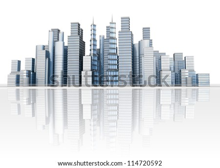 Cityscape illustration of large city