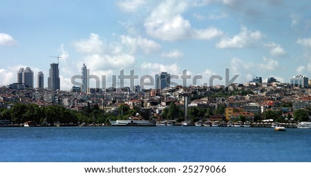 cityscape image in Istanbul Turkey in the day time