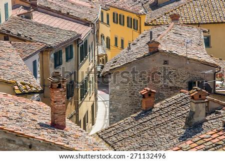 Cityscape in Tuscany - stock photo