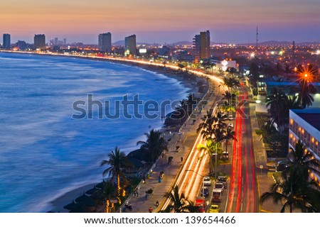 Cityscape, Mazatlan Mexico - stock photo