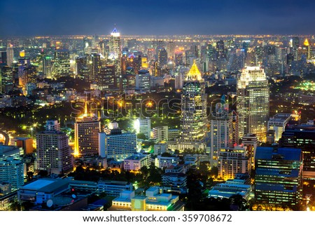 Cityscape middle of Bangkok, Thailand - stock photo