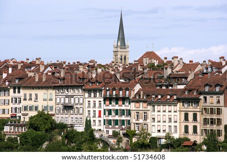 Cityscape of Berne, Switzerland. Beautiful old town.