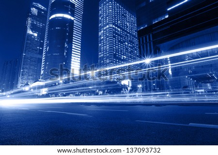 Cityscape of cars motion blur in Guangzhou China.