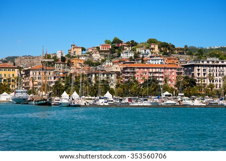 Cityscape of La Spezia - Liguria Italy / View of  the city and the harbor of La Spezia - Liguria, Italy, Europe