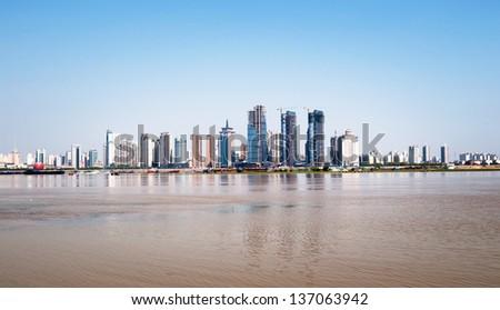 cityscape of modern city - stock photo