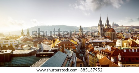 Cityscape of old town in Prague, Czech Republic - stock photo