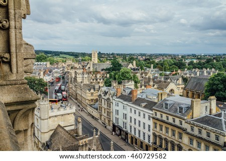 Cityscape of Oxford, UK