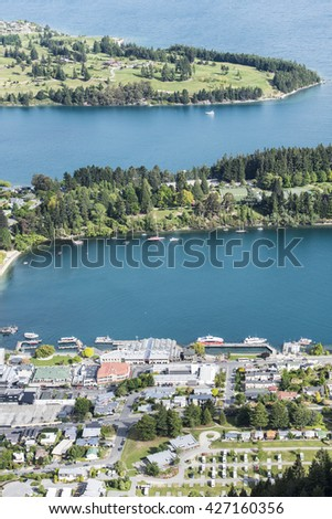 cityscape of Queenstown of New Zealand