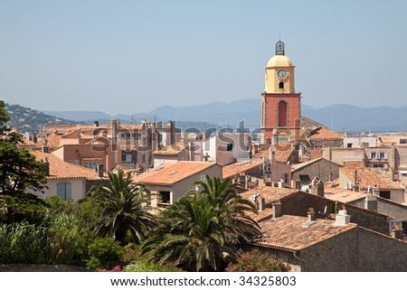 cityscape of Saint-Tropez, French Riviera