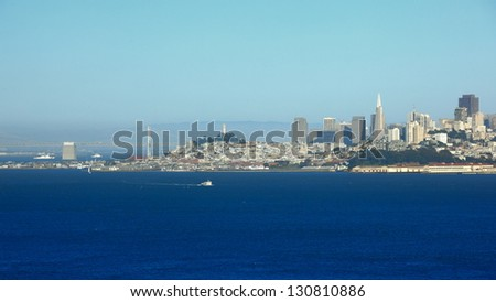 cityscape of San Francisco - stock photo