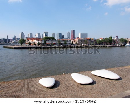 Cityscape - Rotterdam, Netherlands - stock photo
