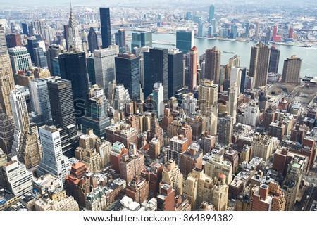 Cityscape view of Manhattan, New York City, USA - stock photo
