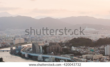 Cityscape with retouching image
