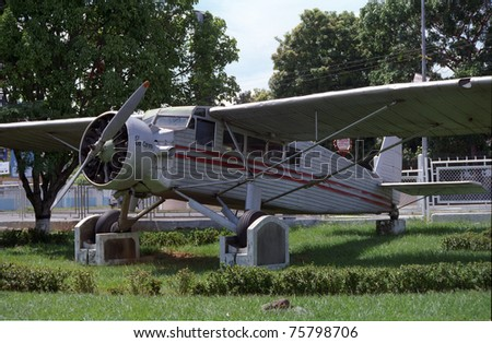 CIUDAD BOLIVAR, VENEZUELA - SEPTEMBER 27: Aircraft El Rio Caroni on September 27, 1999 in Ciudad Bolivar, Venezuela. Jimmy Angel discovered Angel Falls from this plane at 1937 when he landed at Auyantepui.