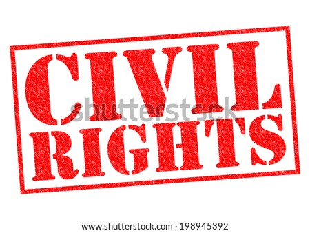 CIVIL RIGHTS red Rubber Stamp over a white background. - stock photo