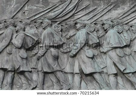 Civil War Calvary Statue in Washington DC - stock photo