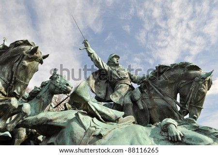 Civil War Soldier Statue in Washington DC - stock photo