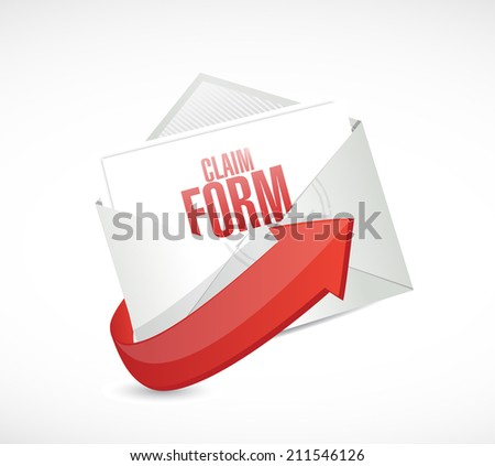claim form envelope illustration design over a white background - stock photo