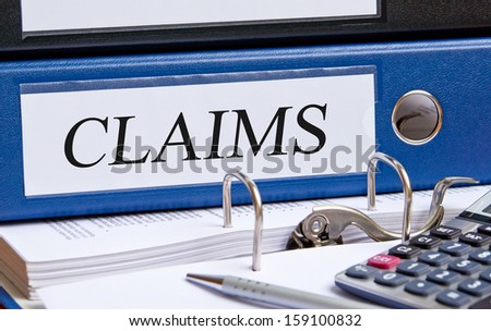 Claims - stock photo