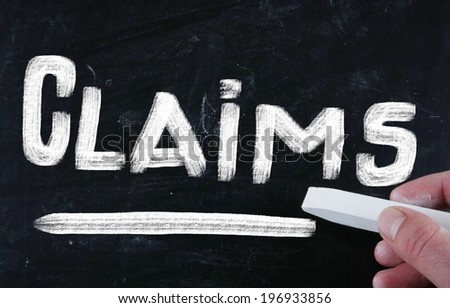 claims concept - stock photo