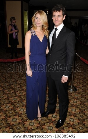 Claire Danes and Hugh Dancy at the 61st Annual DGA Awards. Hyatt Regency Century Plaza, Los Angeles, CA. 01-31-09