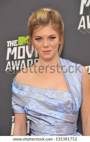 Claire Julien at the 2013 MTV Movie Awards at Sony Studios, Culver City. April 14, 2013  Los Angeles, CA Picture: Paul Smith - stock photo