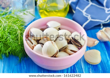 clams in the bowl - stock photo