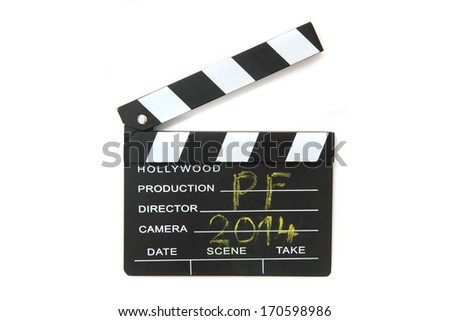 clapboard (PF 2014) - stock photo