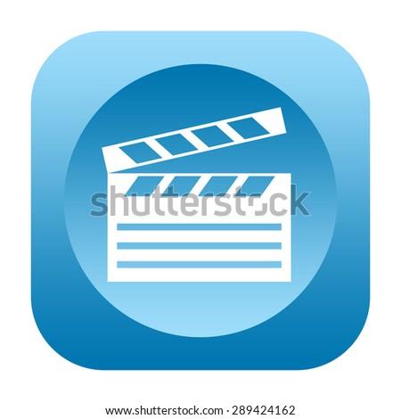 Clapper board icon - stock photo