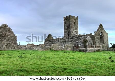 Clare Abbey Co. Clare Ireland. - stock photo