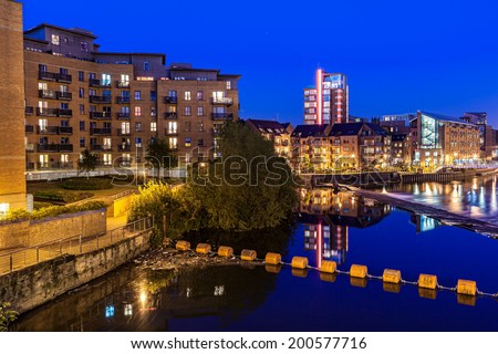 Clarence dock is the newly developed in Leeds city centre, England - stock photo
