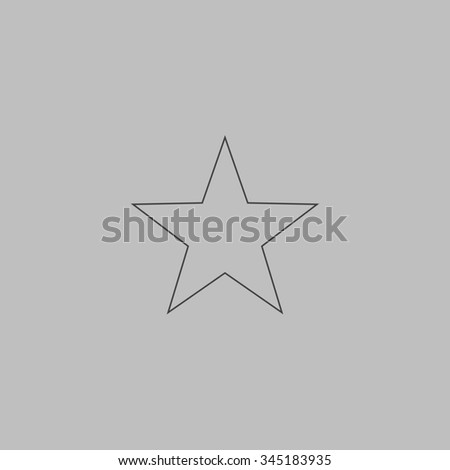 Clasic star flat outline icon on stock illustration 345183935 clasic star flat outline icon on grey background sciox Images