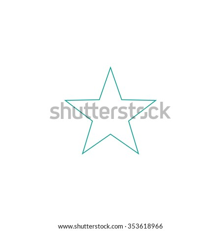 Clasic star flat outline icon on stock illustration 345183935 clasic star outline symbol on white background simple line icon sciox Images