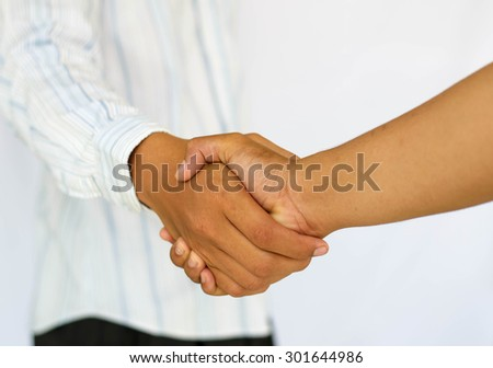 clasp business asia hands - stock photo