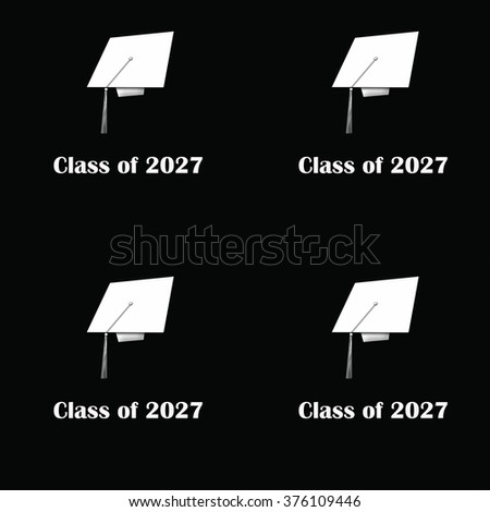 Class of 2027 White on Black Pattern Large