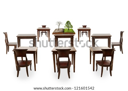 Class room student, global warming course - stock photo