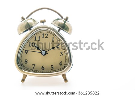 Classic Alarm Clock isolated on white background