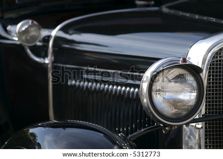 classic american car - stock photo