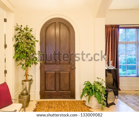 Classic AMerican home entrance interior - stock photo