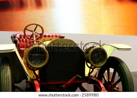 Classic / antique car on display in a motorshow - stock photo