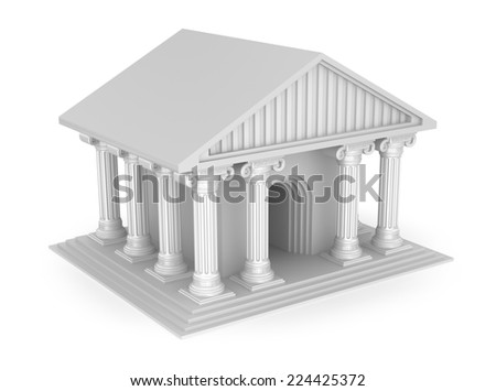 Classic antique greek temple