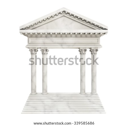 Classic Arch On Stair. 3d rendering - stock photo