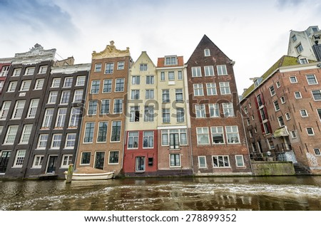 Classic architecture of Amsterdam, The Netherlands.
